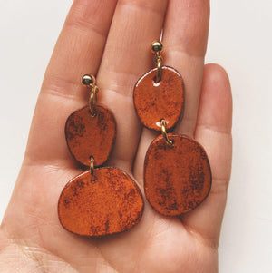 abstract ceramic earrings