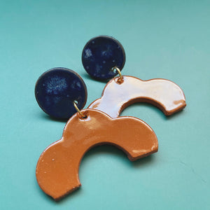 terra cotta ceramic earrings