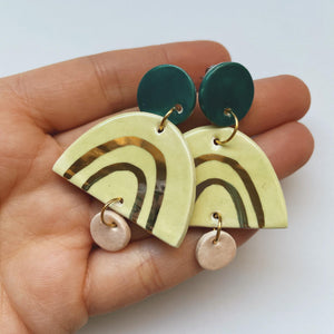 multi colored ceramic earrings