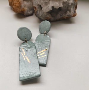 blue ceramic earrings