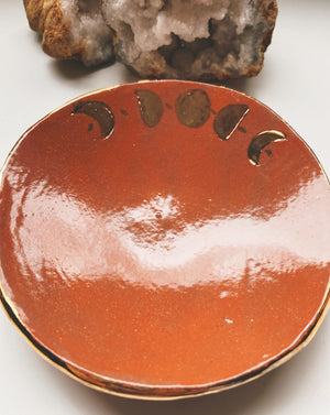 moon phase ceramic dish