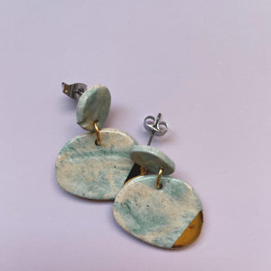 marbled ceramic earrings