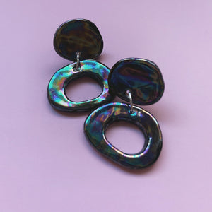 black pearl ceramic earrings hypoallergenic