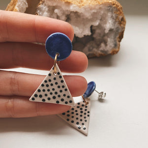 triangle ceramic earrings