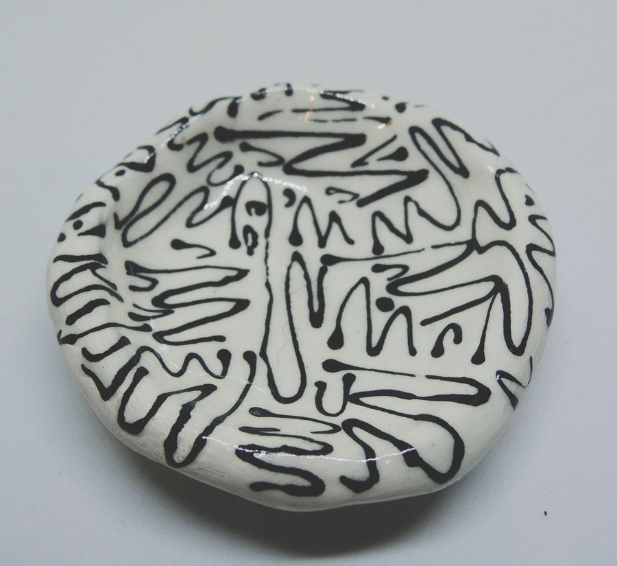 Wiggle line art ring dish - gloriafaye