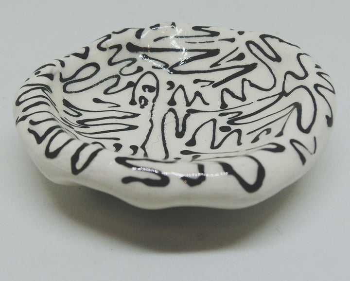 black and white ring ceramic ring dish