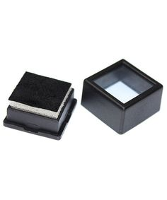 GLASS TOP GEM BOX -BLACK (50 PCS)-Transcontinental Tool Co