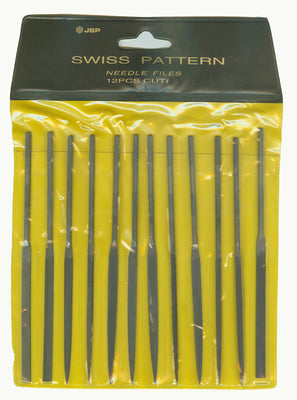 NEEDLE FILE SET 12 PC CUT 4-Transcontinental Tool Co