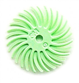 "3M RADIAL BRISTLE DISCS 1 MICRON GREEN 3/4"" (6PCS)-Transcontinental Tool Co"