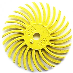 "3M RADIAL BRISTLE DISCS 80G YELLOW 3/4"" (6PCS)-Transcontinental Tool Co"