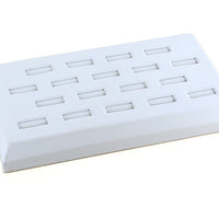 RING DISPLAY TRAY 18 SLOT WHITE-Transcontinental Tool Co