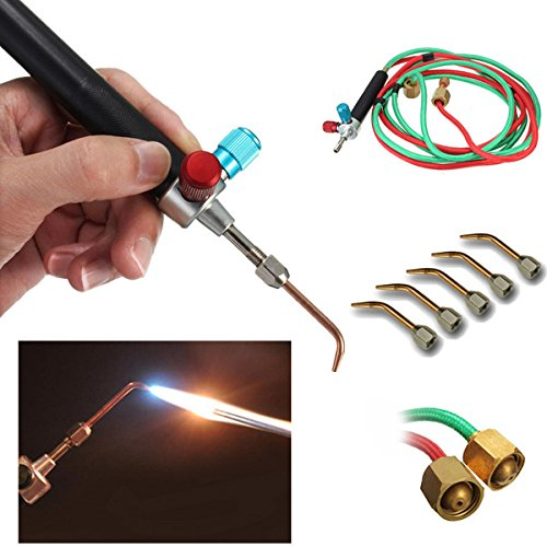 LITTLE TORCH - 5 TIPS #3-7 W/8' HOSE OXY/FUEL/GAS-Transcontinental Tool Co