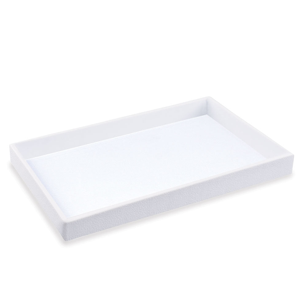 "1.5"" STANDARD SIZE PLASTIC STACKABLE UTILITY TRAY WHITE-Transcontinental Tool Co"