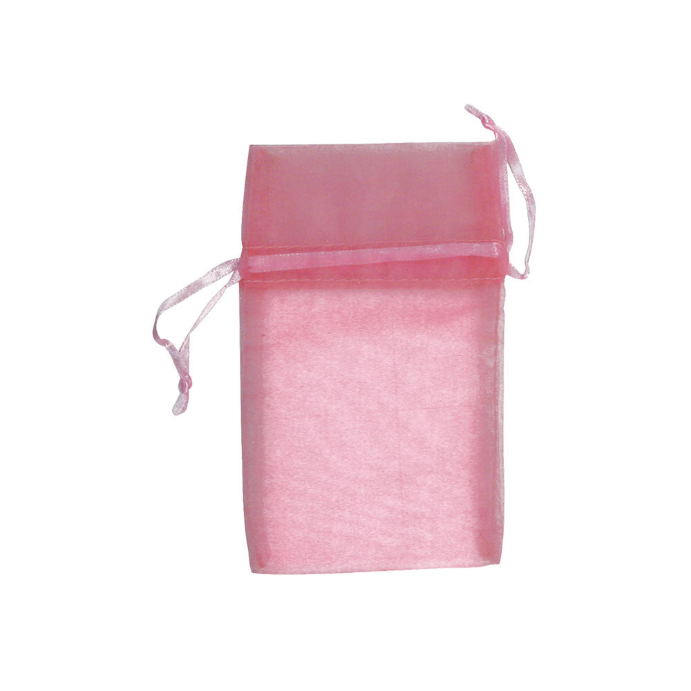 "ORGANZA DRAWSTRING POUNCH 3X4"" PINK-Transcontinental Tool Co"