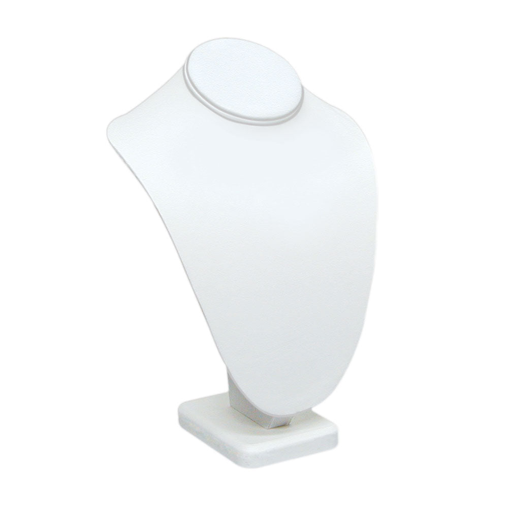 "LARGE STANDING NECK BUST WHITE LEATHER 11""H-Transcontinental Tool Co"