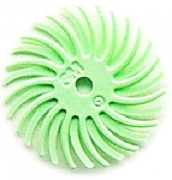 3M RADIAL BRISTLE DISCS 1 MICRON LIGHT GREEN 9/16