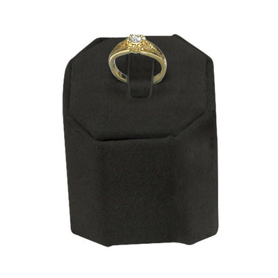MEDIUM HIGH RING STAND BLACK VELVET-Transcontinental Tool Co