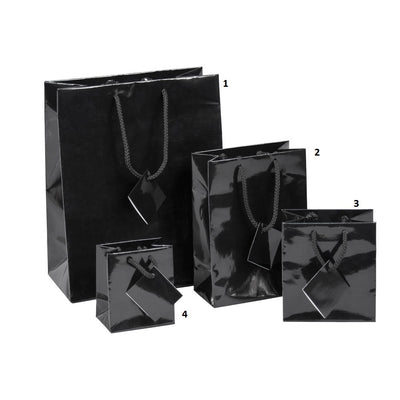 SHOPPING TOTE- MEDIUM- GLOSSY BLACK 10PCS-Transcontinental Tool Co
