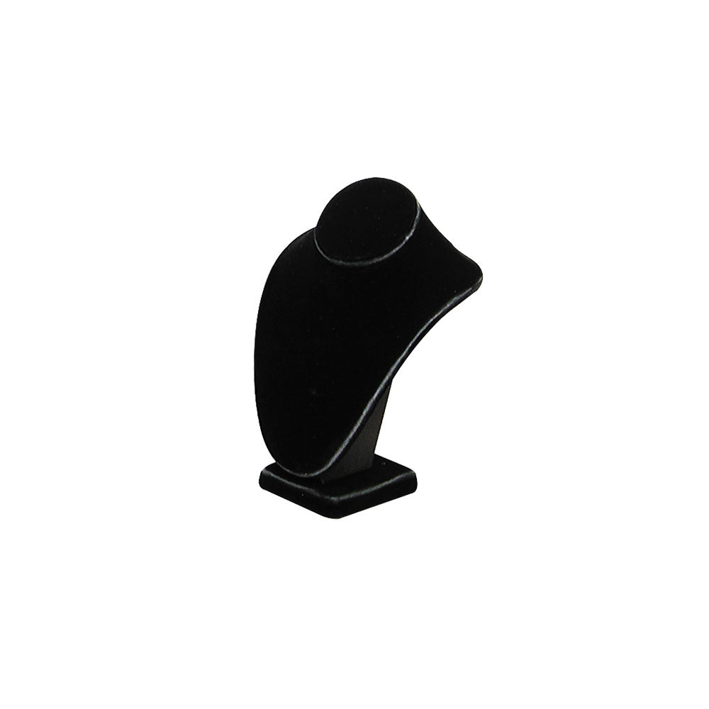 "EXTRA-SMALL STANDING NECK BUST BLACK VELVET 6-1/4""H-Transcontinental Tool Co"
