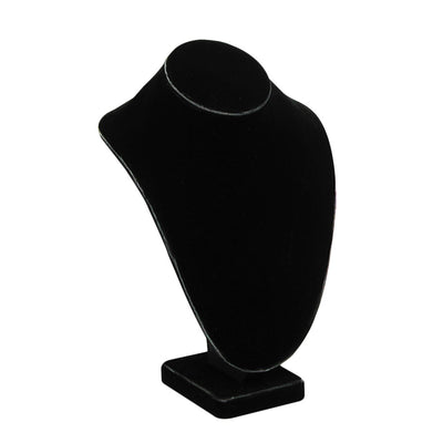 LARGE STANDING NECK BUST BLACK VELVET 11