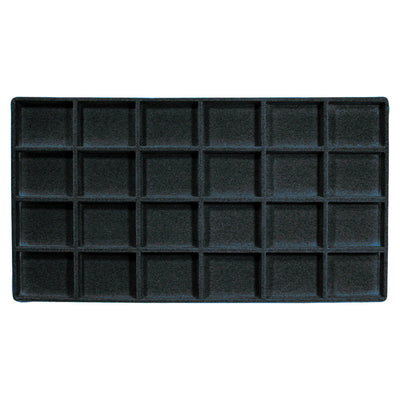 FULL SIZE TRAY LINER- 24 SECTION BLACK-Transcontinental Tool Co
