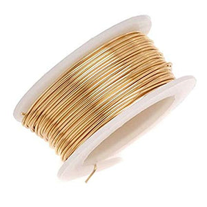 BRASS WIRE 20 GAUGE 0.81MM 4-OZ-Transcontinental Tool Co