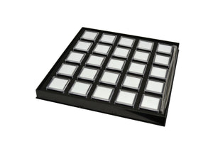 GEM TRAY WITH 25 BOXES BLACK-Transcontinental Tool Co