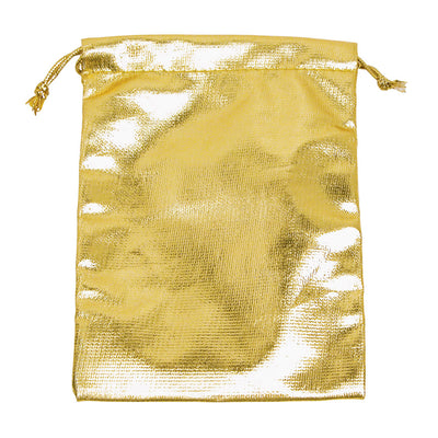 METALLIC GOLD DRAWSTRING POUCH 3X4