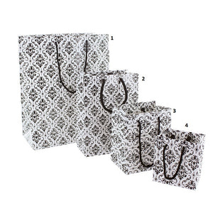SHOPPING TOTE- SMALL- DAMASK GLOSSY 10 PCS-Transcontinental Tool Co