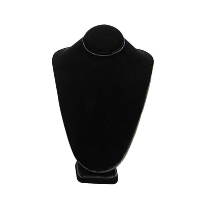 SMALL STANDING NECK BUST BLACK VELVET 7-1/2