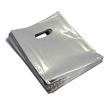 "METALLIC SILVER PLASTIC BAGS 9X11"" 100PCS-Transcontinental Tool Co"