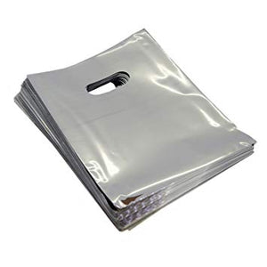 "METALLIC SILVER PLASTIC BAGS 12X16"" 100PCS-Transcontinental Tool Co"