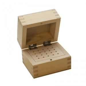 WOODEN BUR BOX 20 HOLES-Transcontinental Tool Co