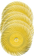 "3M BRISTLE RADIAL DISC 3 X 3/8"" 80G YELLOW 3"" (10 PCS)-Transcontinental Tool Co"
