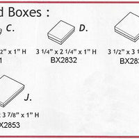 "COTTON FILLED BOXES 5-3/8 X 3-7/8 X 1""-Transcontinental Tool Co"