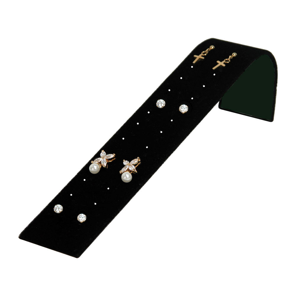 EARRING RAMP 12 PAIR BLACK VELVET-Transcontinental Tool Co