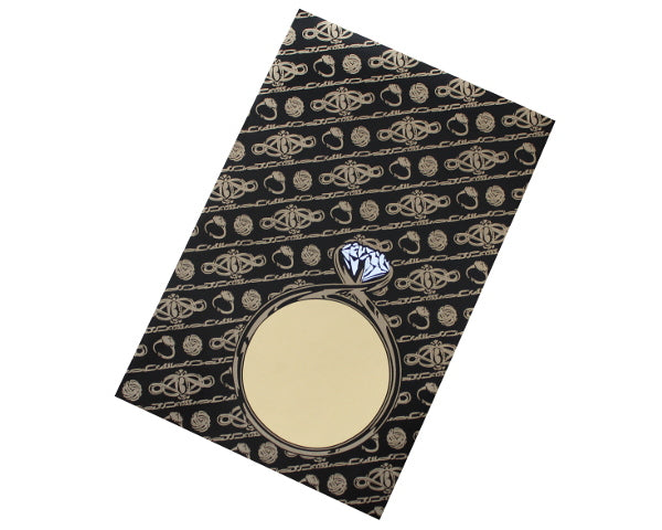 152x102mm Black & Gold Jewellery Envelopes (None Window) - Box of 100 - Biodegradable / Eco-Friendly / Food Safe - Intrinsic Paper Straws