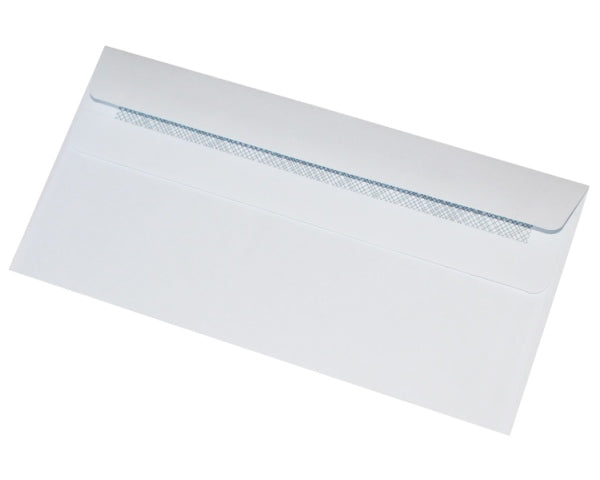 110x220mm DL White Self Seal Envelopes (None Window) - Box of 1000 - Biodegradable / Eco-Friendly / Food Safe - Intrinsic Paper Straws