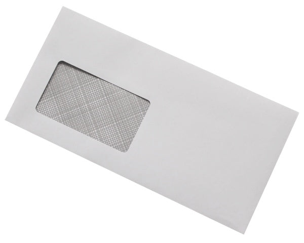 114x229mm DL+ White Gummed Envelopes (Window 50x90mm) - Box of 1000 - Biodegradable / Eco-Friendly / Food Safe - Intrinsic Paper Straws