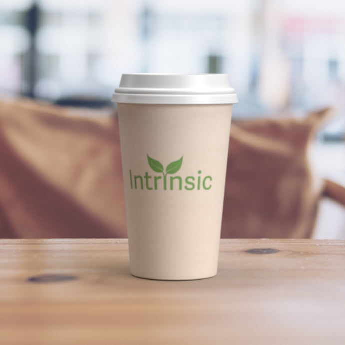12oz 100% Recyclable Cups - Intrinsic Paper Straws
