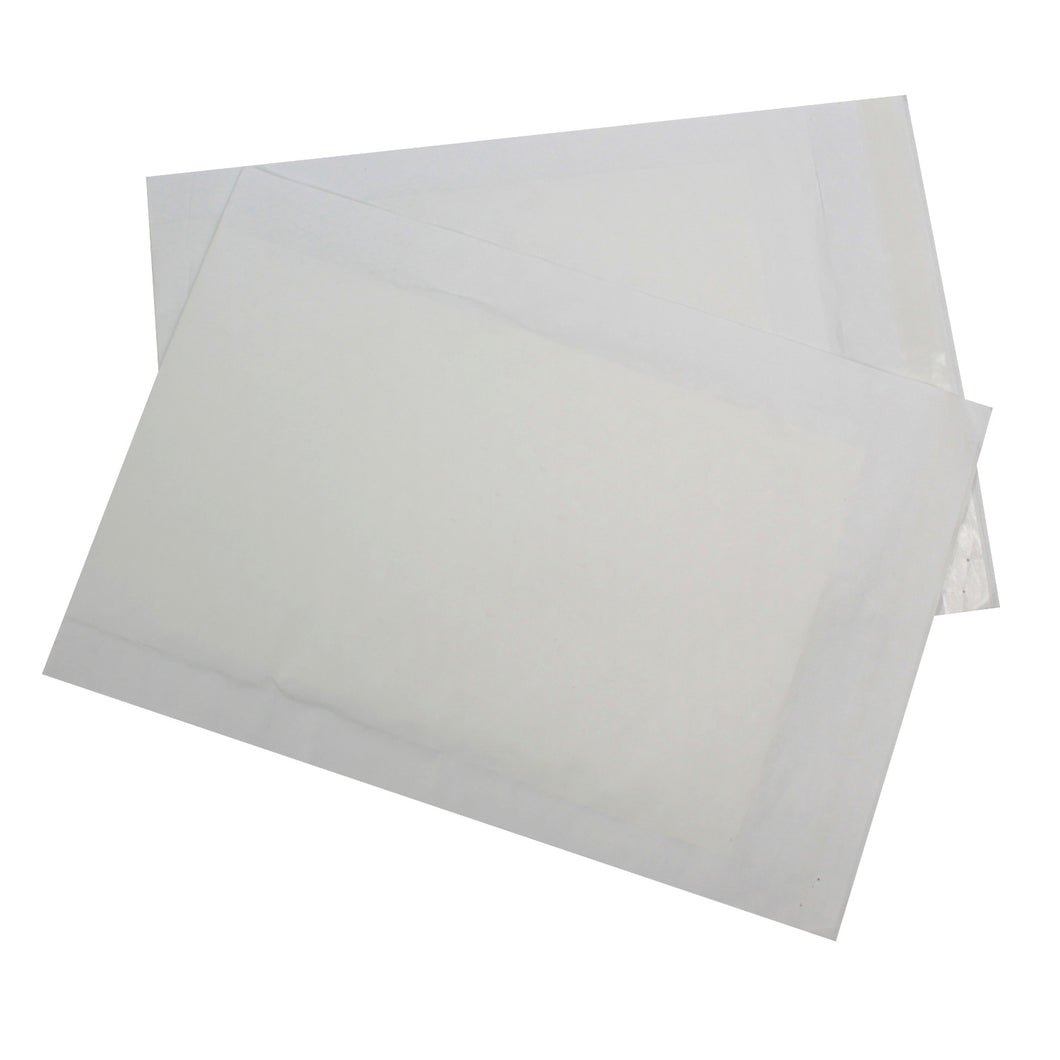 445x300mm White Paper Padded Envelopes - Pack of 20 - Biodegradable / Eco-Friendly / Food Safe - Intrinsic Paper Straws