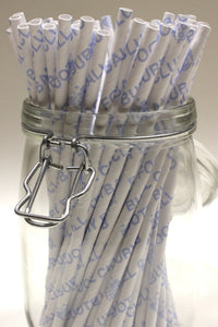 Bury FC - Save Our Shakers Paper Straws S1 (6mm x 200mm) - Biodegradable / Eco-Friendly / Food Safe - Intrinsic Paper Straws