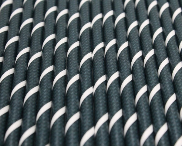 Carbon Fibre Effect Paper Straws (6mm x 200mm) - Biodegradable / Eco-Friendly / Food Safe - Intrinsic Paper Straws