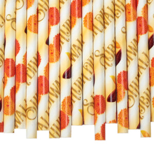 Diwali Paper Straws (6mm x 200mm) - Biodegradable / Eco-Friendly / Food Safe - Intrinsic Paper Straws