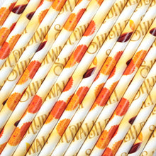 Load image into Gallery viewer, Diwali Paper Straws (6mm x 200mm) - Biodegradable / Eco-Friendly / Food Safe - Intrinsic Paper Straws