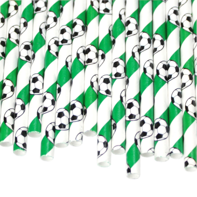 Football Paper Straws (6mm x 200mm) - Biodegradable / Eco-Friendly / Food Safe - Intrinsic Paper Straws