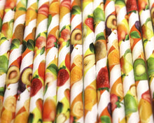 Load image into Gallery viewer, Fruity Paper Straws (6mm x 200mm) - Biodegradable / Eco-Friendly / Food Safe - Intrinsic Paper Straws