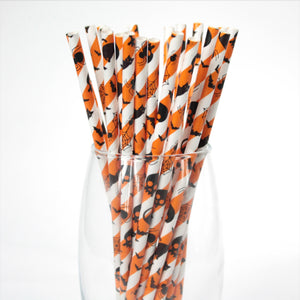 Halloween Paper Straws (6mm x 200mm) - Biodegradable / Eco-Friendly / Food Safe - Intrinsic Paper Straws