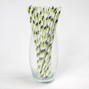 Individually Wrapped Horse Racing Paper Straws (6mm x 200mm) - Biodegradable / Eco-Friendly / Food Safe - Intrinsic Paper Straws