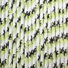 Load image into Gallery viewer, Individually Wrapped Horse Racing Paper Straws (6mm x 200mm) - Biodegradable / Eco-Friendly / Food Safe - Intrinsic Paper Straws
